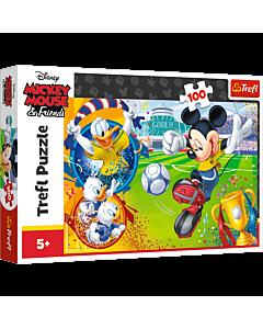 Myszka Miki na boisku - puzzle 100 od Trefl