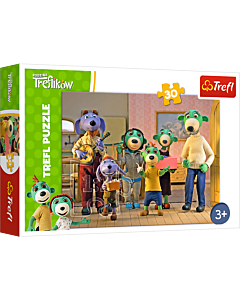 Wesoły dzień - puzzle 30 od Trefl