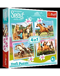 Popołudniowa przejażdżka - puzzle 4 w 1 od Trefl