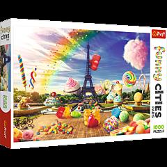 Słodki Paryż - funny cities puzzle 1000 elementów od Trefl