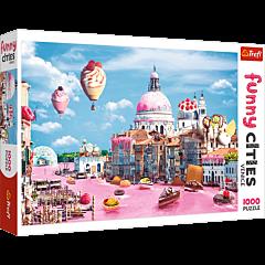 Słodycze w Wenecji, Funny Cities - puzzle 1000 elementów od Trefl