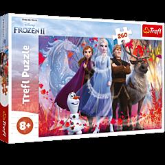 W poszukiwaniu przygód - puzzle 260 elementów Frozen 2 od Trefl