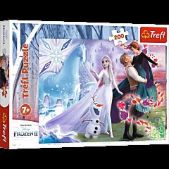 Puzzle 200 Trefl Magiczny świat  sióstr Frozen II