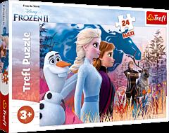 Magiczna wyprawa - puzzle 24 maxi Frozen 2 od Trefl