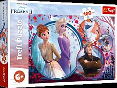 Siostrzana przygoda - puzzle 160 elementów Frozen 2 od Trefl