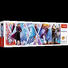Kraina Lodu II - puzzle panoramiczne 1000 elementów od Trefl