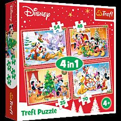 Świąteczny czas - puzzle 4 w 1 od Trefl