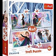 Puzzle 4in1 W magicznym lesie Frozen II Zdjęcie 1