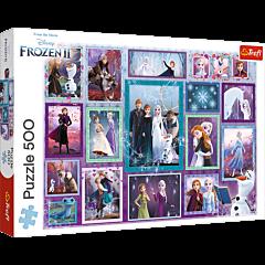 Magiczna galeria, Frozen 2 - puzzle 500 elementów od Trefl - zdjęcie 1
